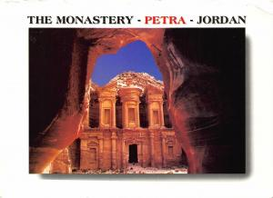 Jordan Petra The Monastery Front view Postcard