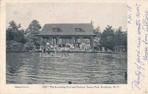 Seneca Park, Rochester, New York - Pavilion and Swimming Pool - pm 1905 - UDB