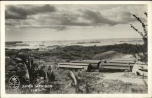 WWII Era - Guam Apra Harbor Real Photo Postcard