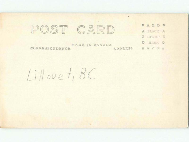 Pre-1949 rppc LILLOOET - CAYOOSH FLAT Between Kamloops & Whistler BC W1033