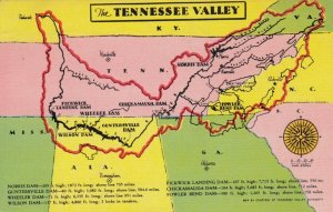 MAP: TENNESSEE Valley and surrounding area, PU-1937