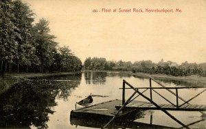 ME - Kennebunkport. Float at Sunset Rock