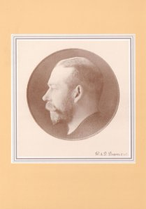 King George V Head Stamp MacKennal Profile London Postcard