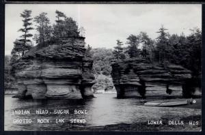 Indian Head,Sugar Bowl,Grotto Rock,Ink Stand,Lower Dells,Wisconsin Dells,WI