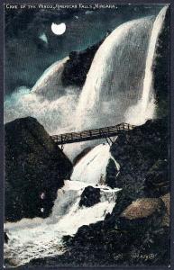 Cave of Winds Night View Niagara Falls NY Used 1908