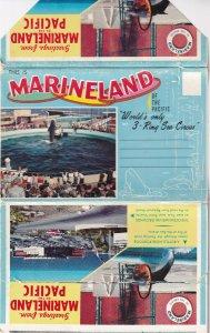 CALIFORNIA, 1940-1960s; Folder Postcard Of Marineland Of The Pacific