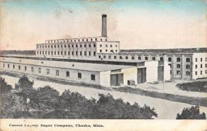 Chaska Minnesota~Carver County Sugar Company~Factory Smokestack~1914 Postcard