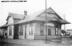 Gainesville Texas Railroad Depot Real Photo Vintage Postcard KA688721
