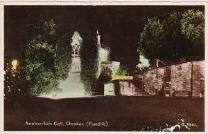 England Chester Anchorite's Cell Floodlit Real Photo