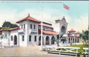 Santa Barbara CA -  Bath House showing end facing the ocean, 1900s