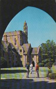 Looking Through Arch Towards Men's Dormitories of Kilgo Quadrangle Duke Unive...
