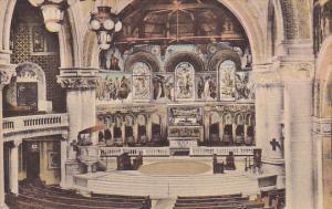 The Chancel Memorial Church University Stanford California Handcolored Albertype