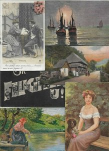 Artist Signed - People And Other Theme Postcard Lot of 17 01.01