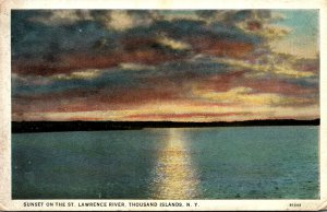 New York Thousand Islands Sunset On The St Lawrence River Curteich