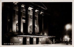 Berlin bei Nacht Staatsoper Germany c1916 Verlag Rud Real Photo Postcard G2