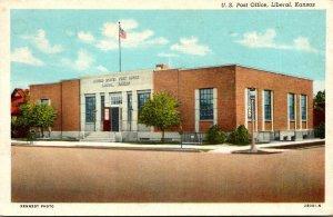Kansas Liberal Post Office Curteich