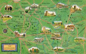 England Map Of The Cotswolds