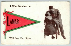 Lamar Colorado~I Was Detained, But I Will See You Soon~1914 Pennant Romance