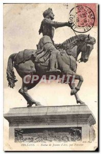 Postcard Old Orleans Statue of Joan of Arc