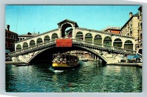 Venezia Ponte di Rialto Chrome Postcard