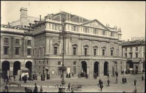 italy, MILAN, Facciata Teatro della Scala, Theatre RPPC