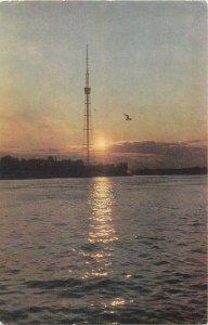 Russia Postcard Leningrad Television tower