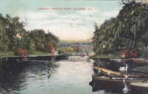 Illinois Chicago Lagoon Lincoln Park 1908