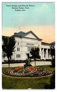 1912 Mineral Palace, Mineral Palace Park, Pueblo, CO Postcard