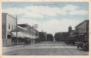 E17/ Edon Ohio Postcard '17 Michigan Street Stores Wagons Bryan Williams County8