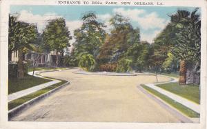 Entrance to Rosa Park, New Orleans, Louisiana, PU-1931
