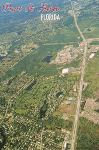 Florida Port St Lucie Aerial View Looking North Showing Golf Course