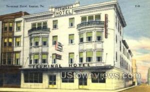 Terminal Hotel Easton PA Unused