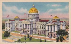 Pennsylvania Harrisburg State Capitol 1958