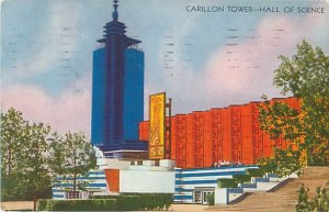 Carillon Tower, Hall of Science, Chicago World's Fair 1933 Postcard