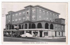 Sandaway Hotel Cars Ocean City New Jersey 1953 postcard