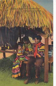 Seminole Indian Family Florida Everglades