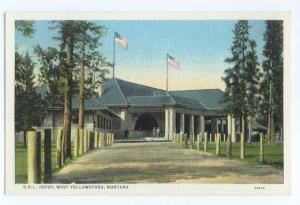Oregon Short Line Depot, West Yellowstone, Montana, MT, Linen