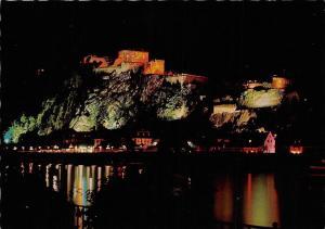 Koblenz am Rhein bei Nacht Schloss