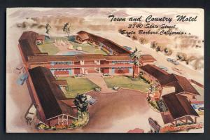 Santa Barbara, California/CA Postcard, Town & Country Motel