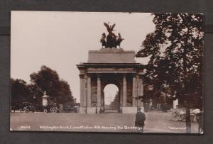 Wellington Arch & Constitution Hill Real Photo - Used 1914 Scratch & Wear