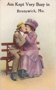 Romantic Couple On Park Bench Brunswick Missouri