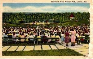 Lincoln, Nebraska - People at the Pinewood Bowl in Pioneer Park - in 1956