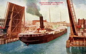 WI - Milwaukee. Scene on Milwaukee River
