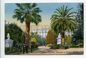 425994 ITALY PALERMO Giardino garibaldi Piazza Marina Vintage postcard