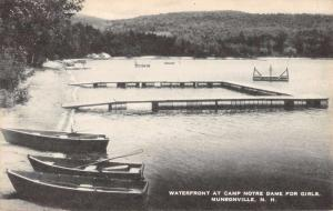 Munsonville New Hampshire Camp Notre Dame Waterfront Antique Postcard K85395