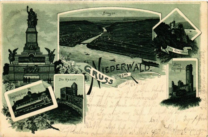 CPA AK Niederwald - Towns - Castles - Monuments - Litho GERMANY (910353)