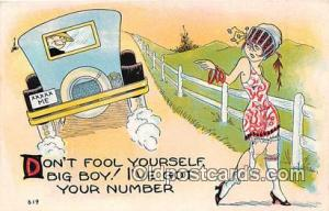 Artist EL White Don't Fool Yourself Postcard Post Card Artist EL White Don't ...