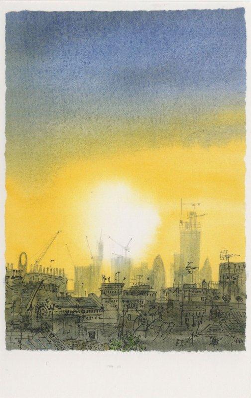 Camden Sunrise From Artists Flat Window Painting Postcard