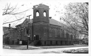 Perry Iowa 1st Presbyterian Church Real Photo Antique Postcard J79885