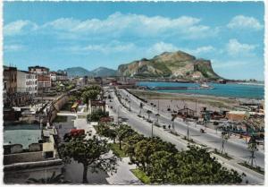 PALERMO, Foro Italico e Monte Pellegrino, 1950s-60s unused Postcard
